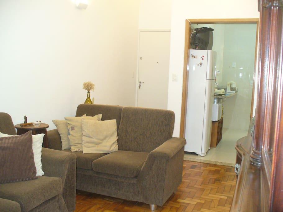 Sala confortável com internet wi-fi disponível