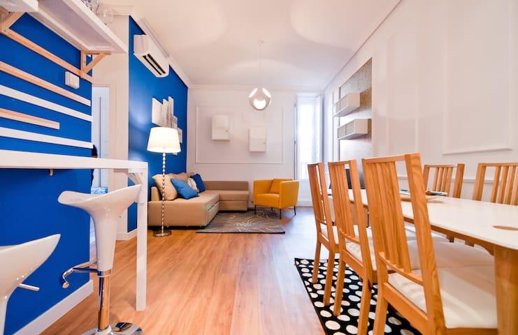 Madrid Classy flat I, 6 peop, 80 sqm, 2 BR, 2 BTHR