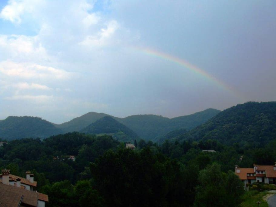 View from my home: The peaceful Asolo hills...