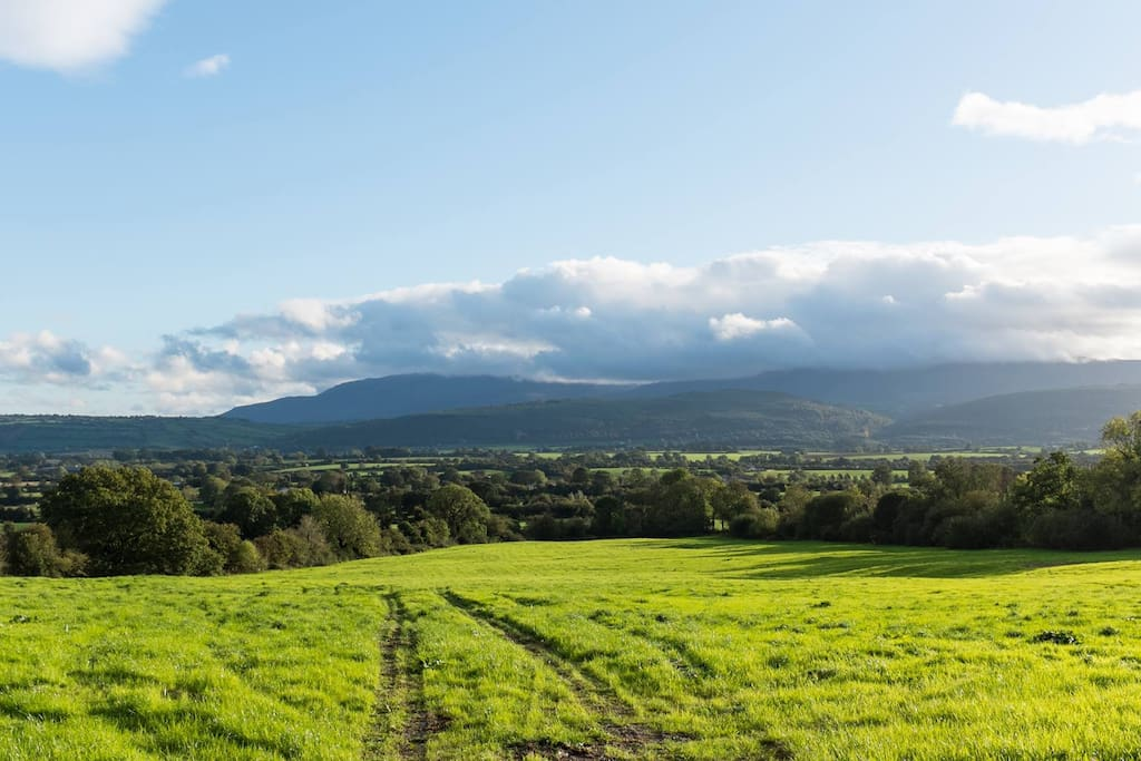 View of Comeragh Mountains from the front garden.