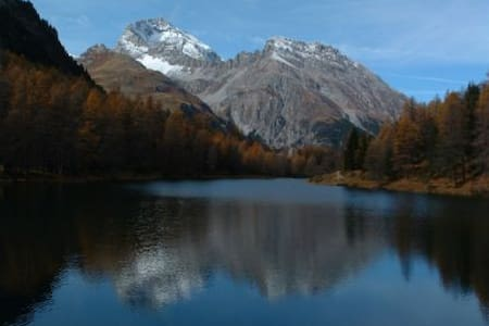 Amazing view in the Swiss Alps/1133 - La Punt-Chamues-ch