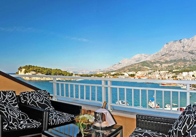 Hotelapartment mit Meerblick,Balkon