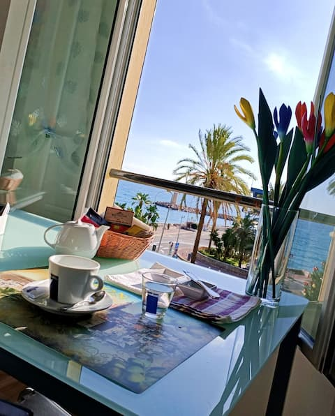 Amazing sea view from a flat in Menton