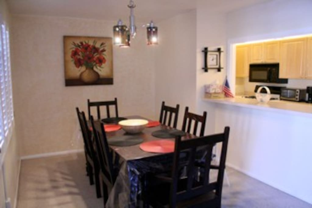 Dining area adjacent to the kitchen.
