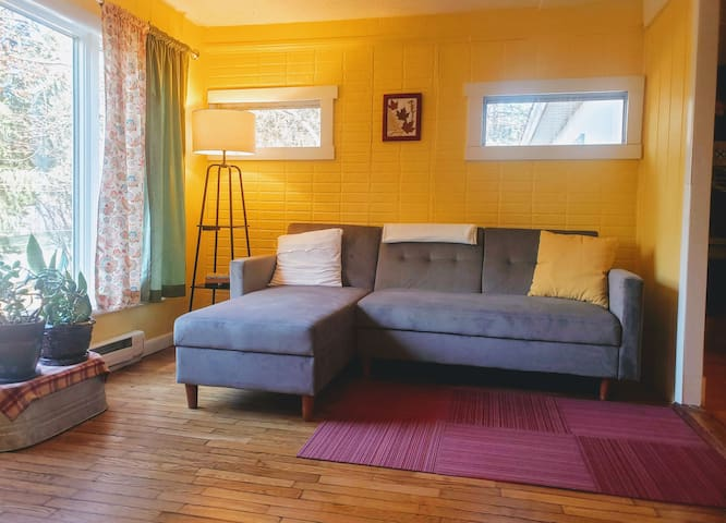 Welcome to the Bright and Cheery Cottage!  The front living area is ready and waiting for you to sit down and relax.