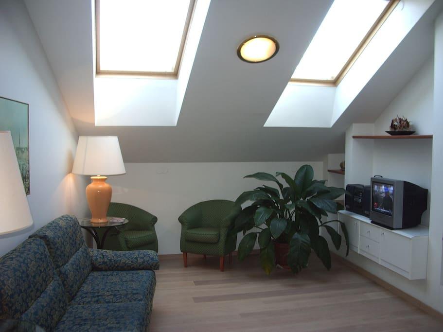 The cute&green living room (previous sofa)
