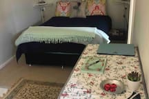 Main area with double bed