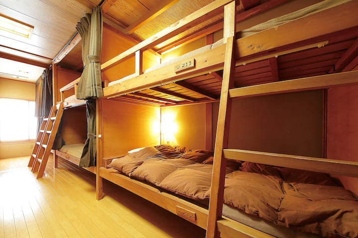 【Gion Area 】1 Bed in 10 Beds Dorm- Mix Gender