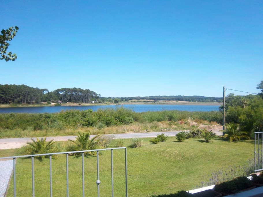 View from the house to Laguna del Diario