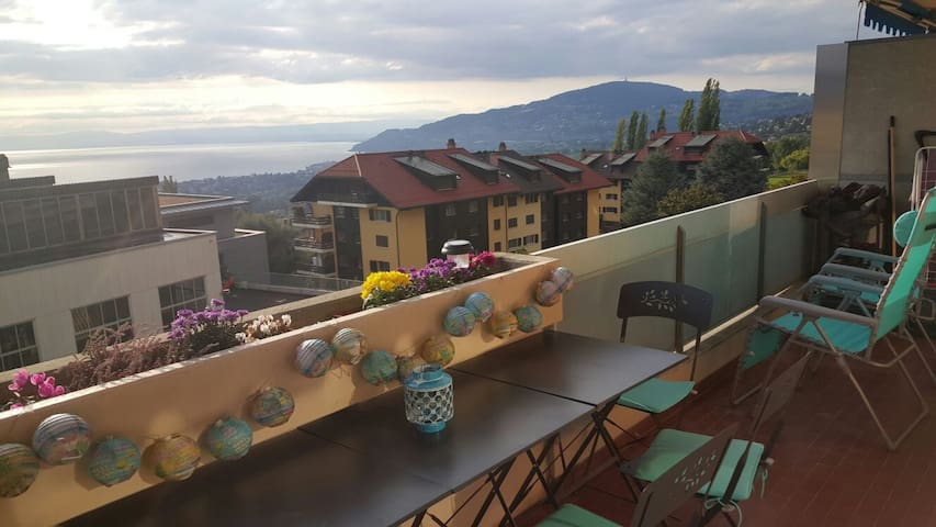 logement sur les hauts de Montreux - Montreux - Huoneisto