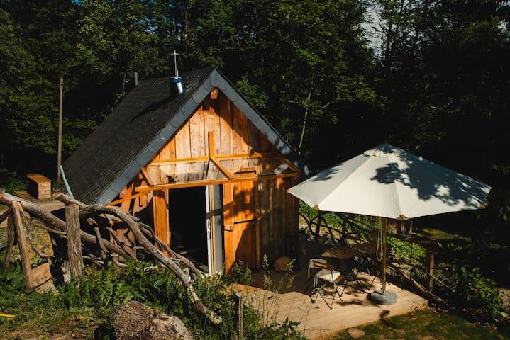 Tiny house écologique, végétarienne, au paradis