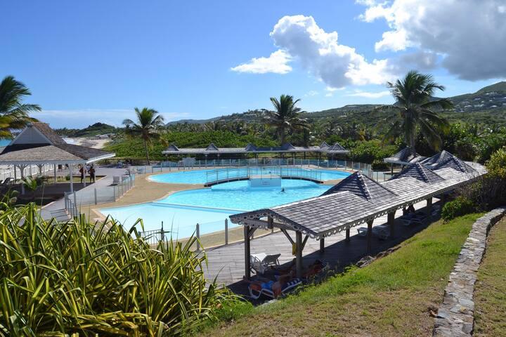 Vacances plage et piscine - Cul-de-Sac - Wohnung