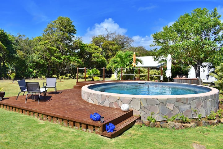 Bungalow avec piscine privée