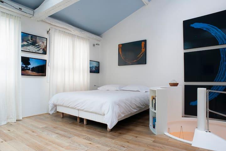 Duplex d'artiste canal Saint Martin