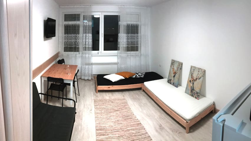 Small studio in the heart of the city.
