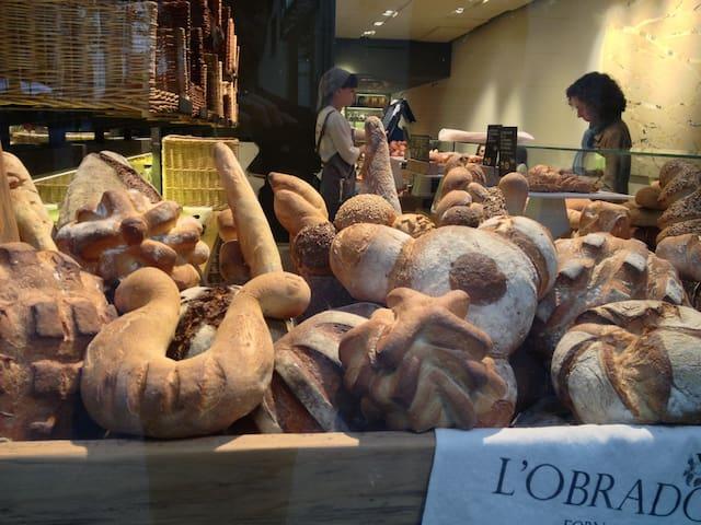 Eine der Bäckereien