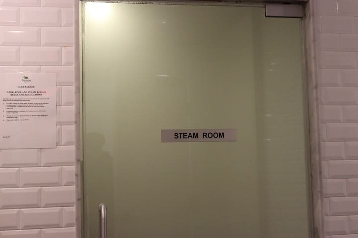 Steam Rooms for him and her. Open 6am - 11pm.