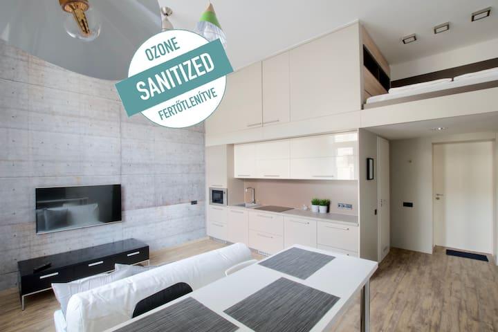 Hi5 Apartments 192- Gellért spa - Beautiful Studio