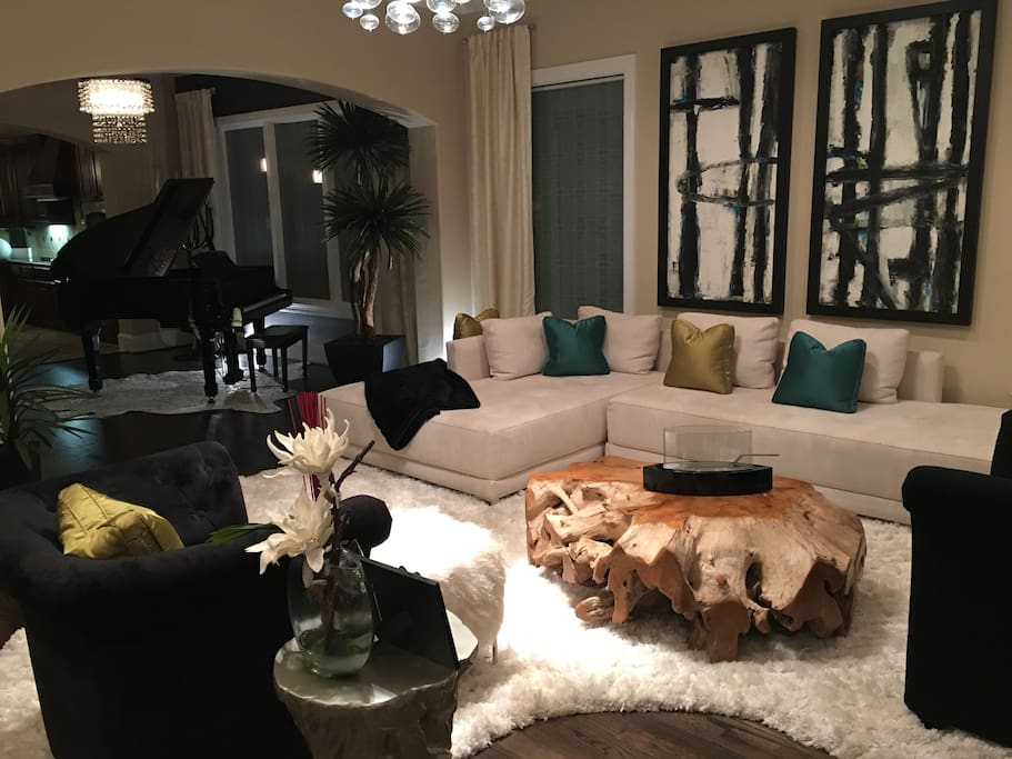 Enjoy family or friends in this gorgeous living room.