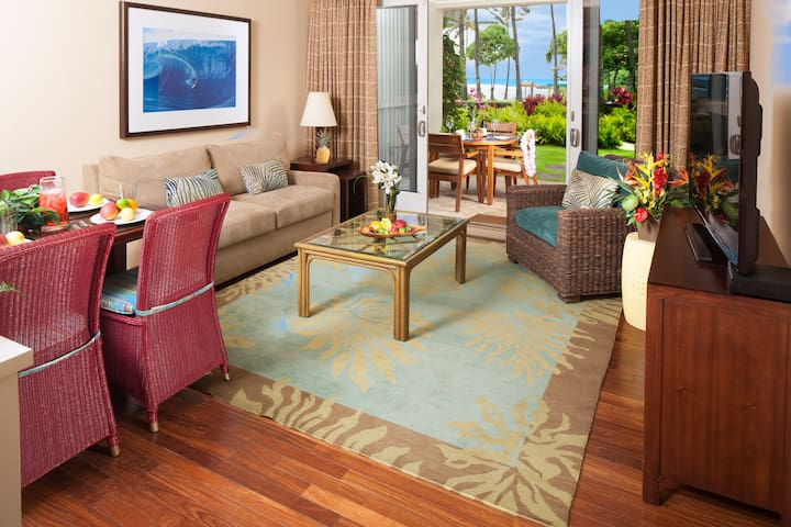 Ocean view living room and dining room!