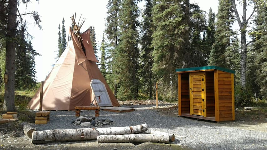 Alaska Kenai River Fishing Sleep in a Tepee
