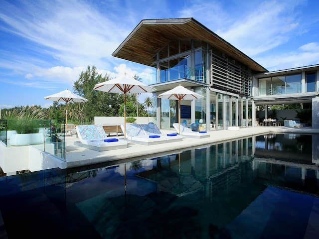 Modern edges beachside Villa Aqua - an elite haven 4BR in Natai Beach