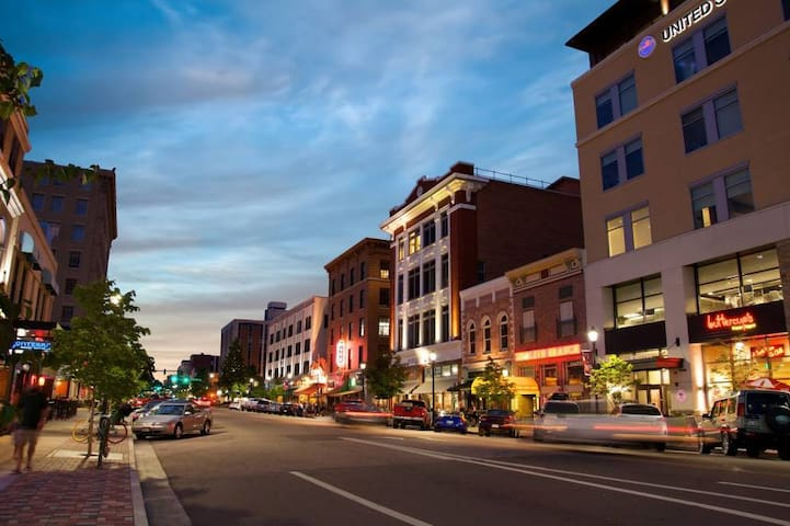 Downtown Colorado Springs offers a variety of shopping, dining, museums, parks, festivals and events. Only 5 minutes away.