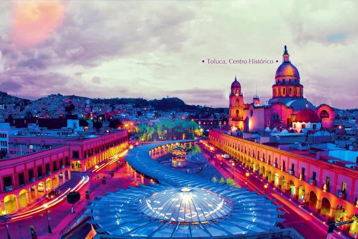 Habitación en Toluca, excelente ubicación - Toluca de Lerdo - Lägenhet