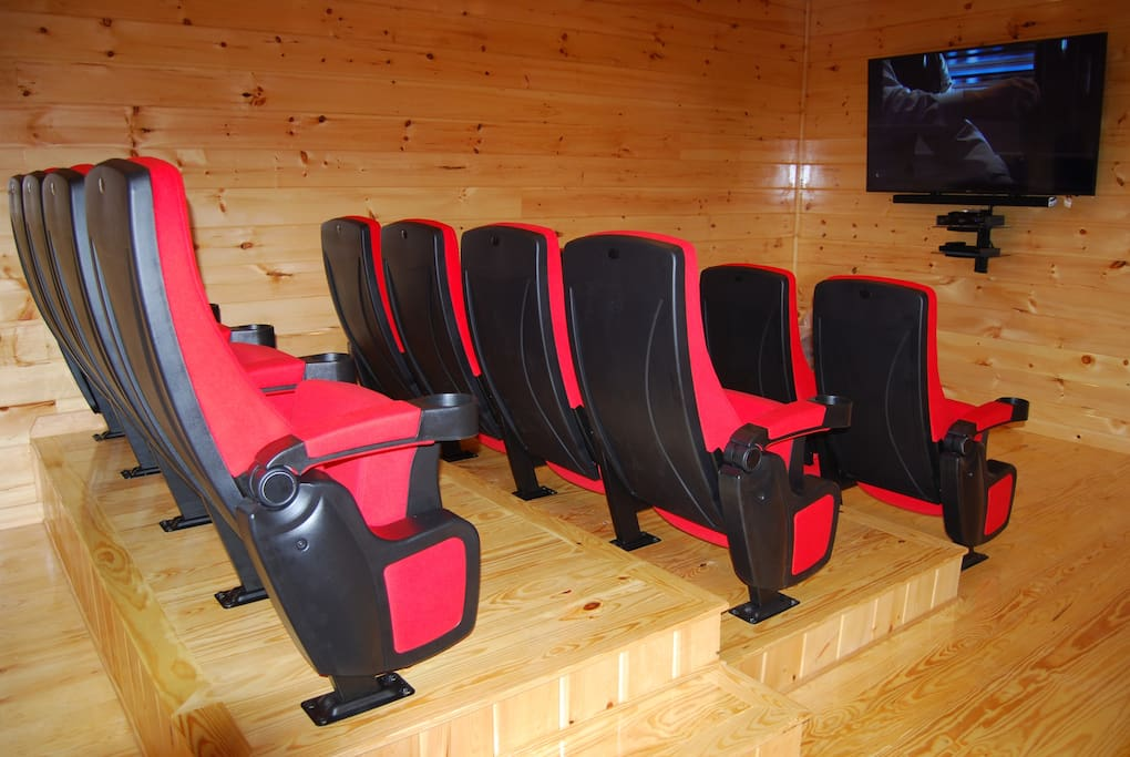 Theater room to enjoy with family and friends.