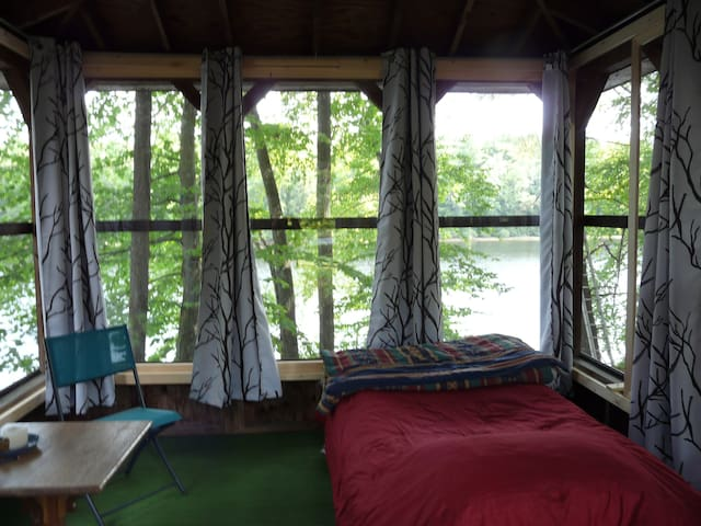 Waterfront Tiny House Bedroom
