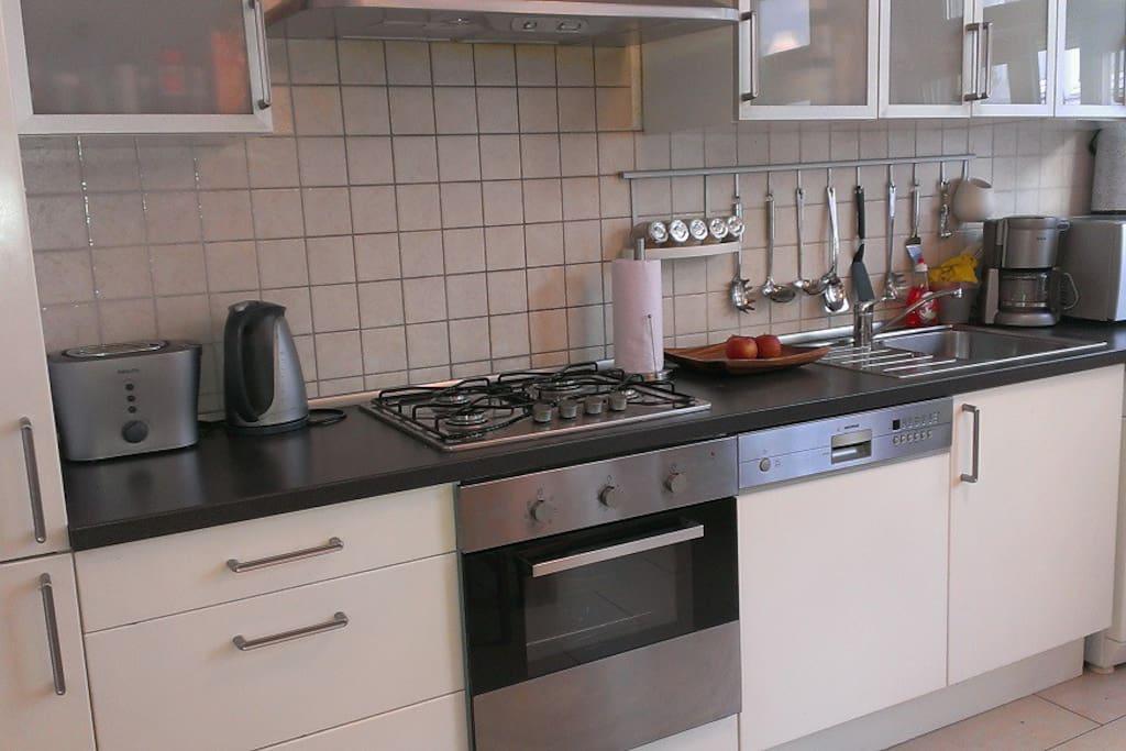 Wohnküche - moderne vollausgestattete Einbauküche