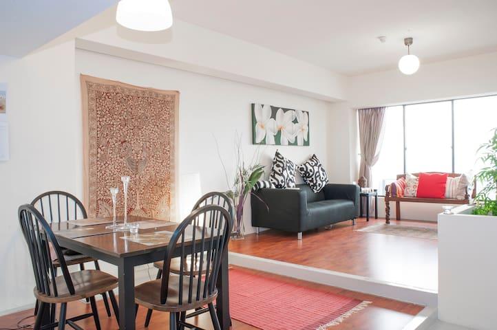 Spacious room 2km from Marina Bay - Singapur - Apartament