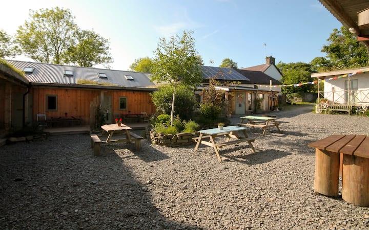 Naturesbase lodge,small holding, west Wales coast