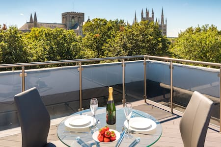 Penthouse, 2 Beds, Terrace & Cathedral View (117) - 彼得伯勒(Peterborough) - 公寓