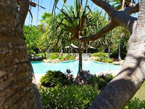 Direct beachfront luxury private pool villa