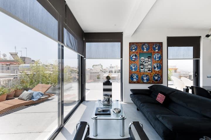 Classy Penthouse: Acropolis & 360 terrace view