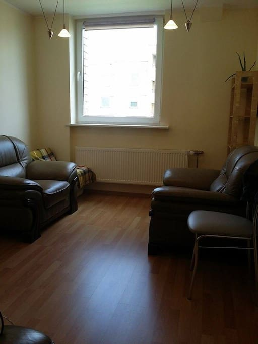 Living room, a sofa and 2 armchairs