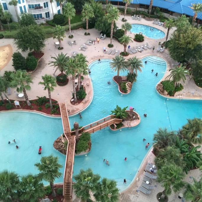 Lagoon pool from window of unit.