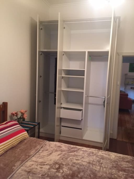 Large fitted closet in private room