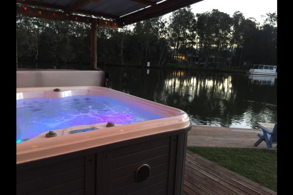 Lake side spa