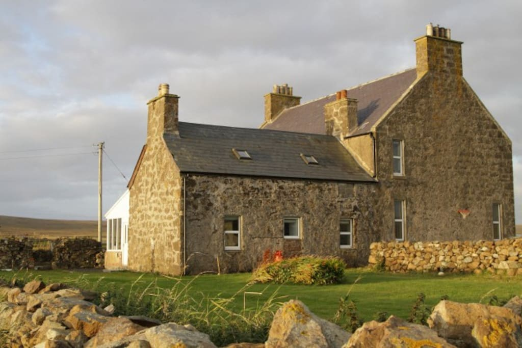 cottage attached to family house h uschen zur miete in baltasound unst shetland schottland. Black Bedroom Furniture Sets. Home Design Ideas