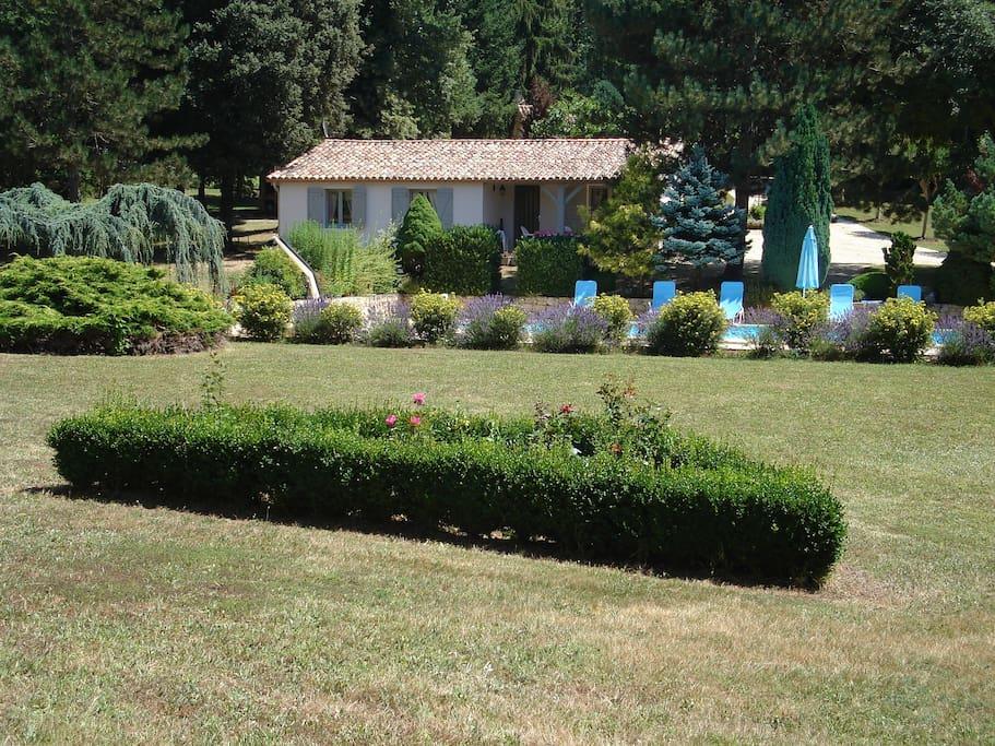 Maison avec vue du parc