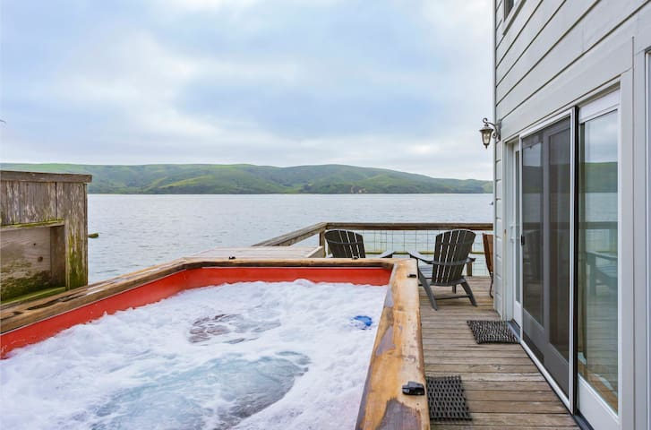 Hot tub over the water