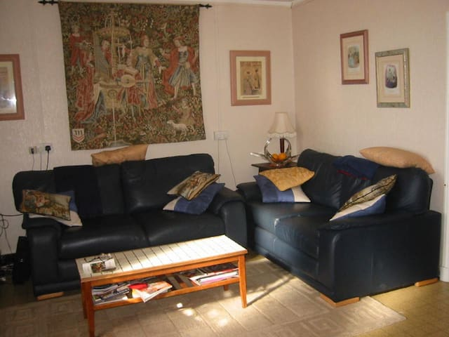 Lounge (facing settee is a sofa bed)