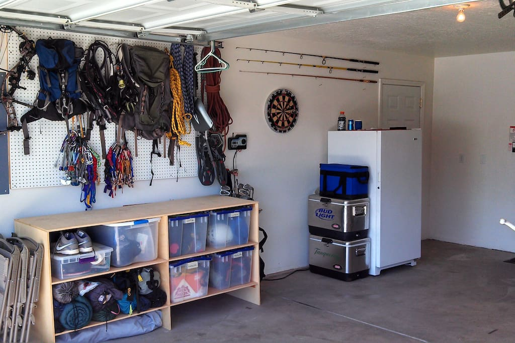 Double car garage to prep and store your bikes.