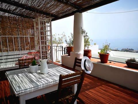 La Canna. Romantická eolian terasa s výhľadom na more