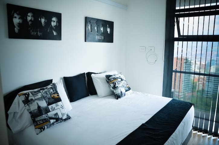 second room queen size bed , portable A/C
