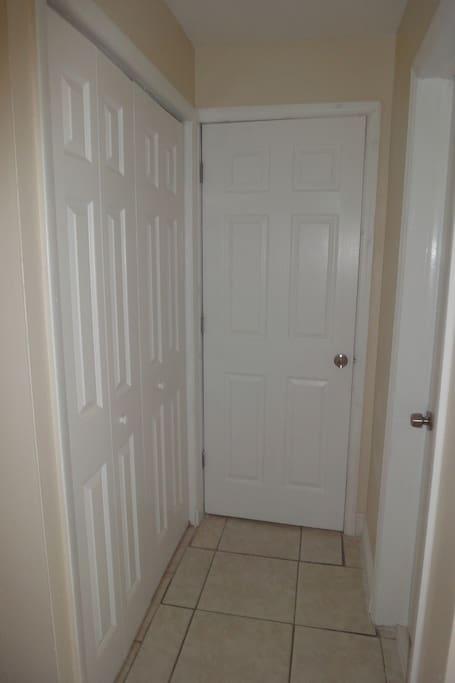 Closet and inside door