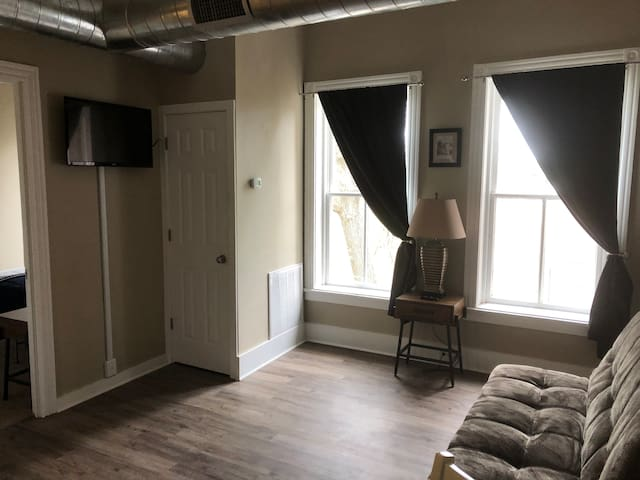 1 bedroom apartment in historic downtown.