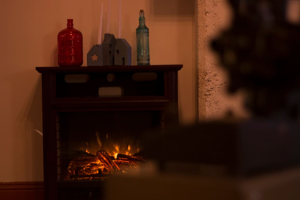 Electric Fireplace for ambience and extra heat
